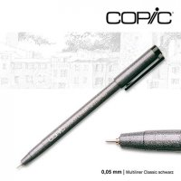 Мультилайнер Copic Multiliner Black, 0,05мм
